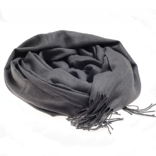 Plain extra soft pashmina style scarf in grey